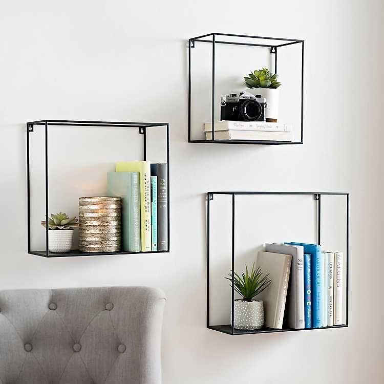 Kirkland S Metal Wall Shelves Cube Wall Shelf Wall Shelves