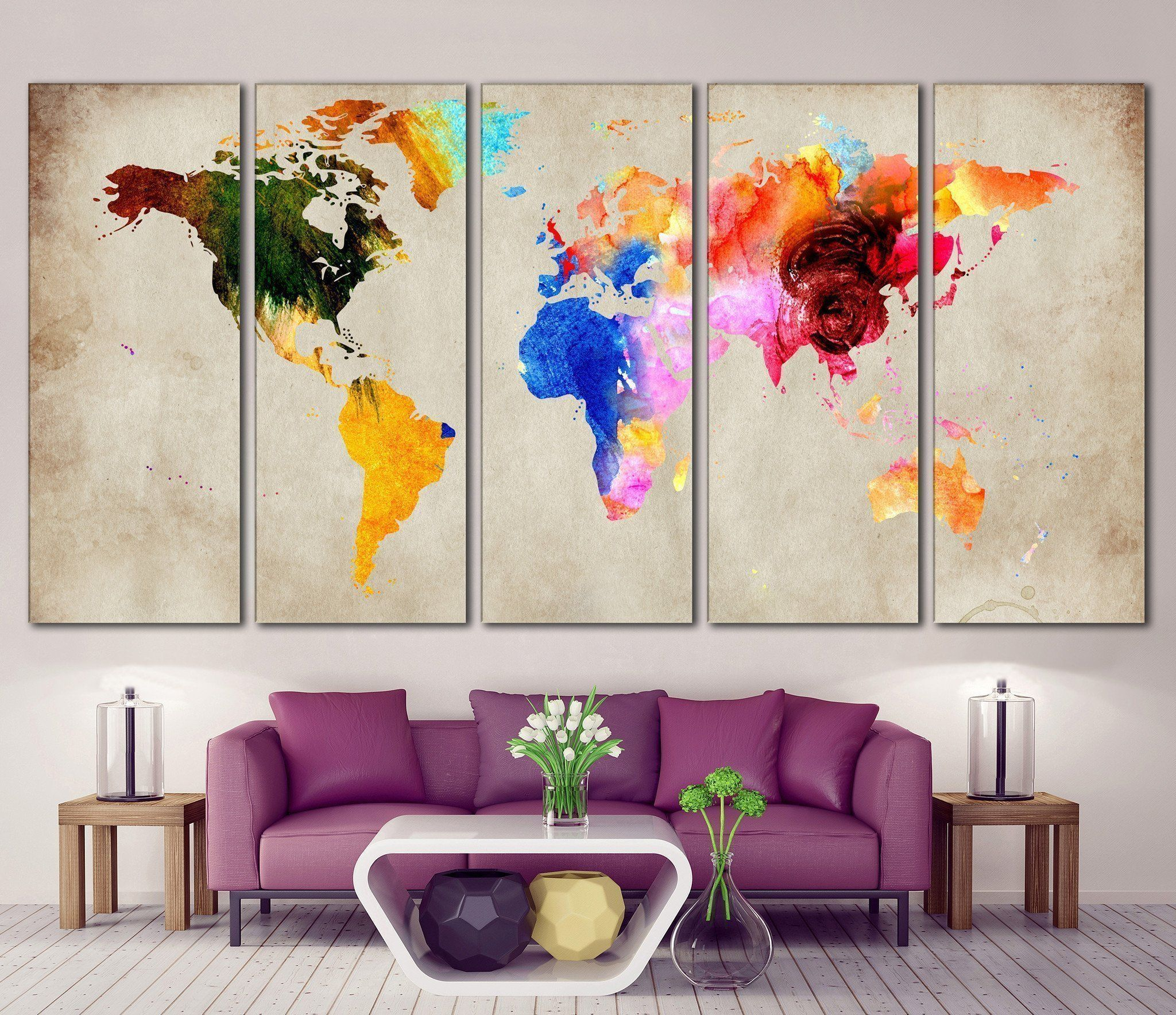 Colorful world map 870 bachelorette pad pinterest apartment colorful world map 870 gumiabroncs Choice Image