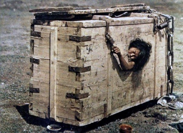 """A Mongolian woman sentenced to starvation death"" by Albert Kahn, Mongolia, 1913"