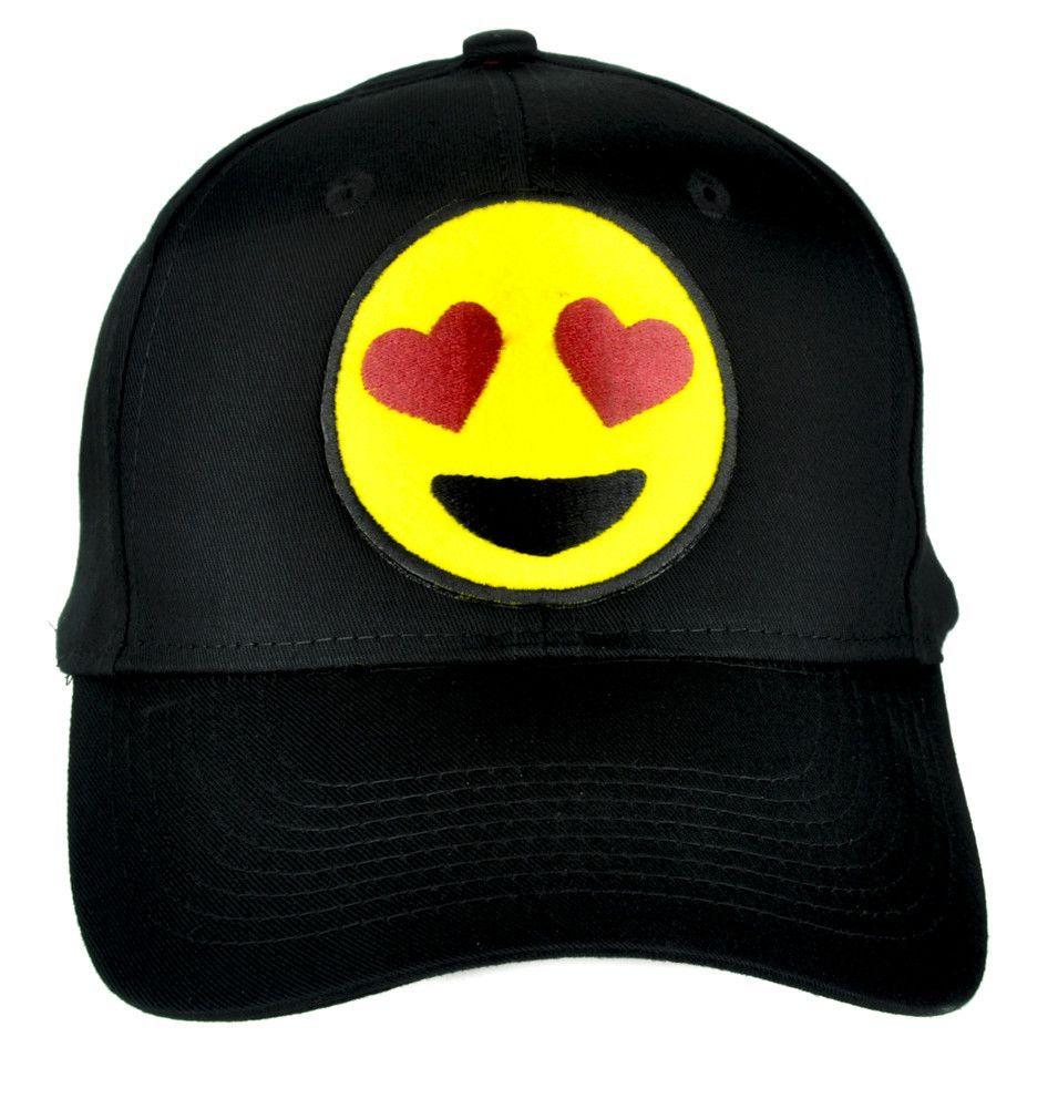 Love Heart Eyes Emoji Hat Baseball Cap Alternative Clothing I Love You Face Baseball Hats Emoji Hat I Love Your Face
