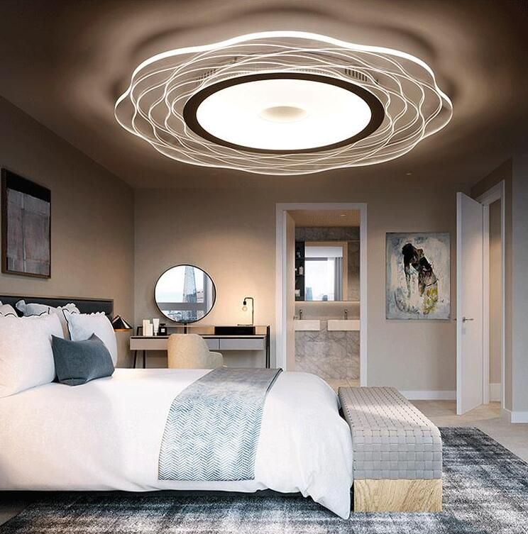 Ultra Beautiful Flowers Led Bedroom Ceiling Light Circular Modern Simple Living Roo Bedroom Ceiling Light Led Bedroom Ceiling Lights Ceiling Lights Living Room #simple #living #room #ceiling #lights
