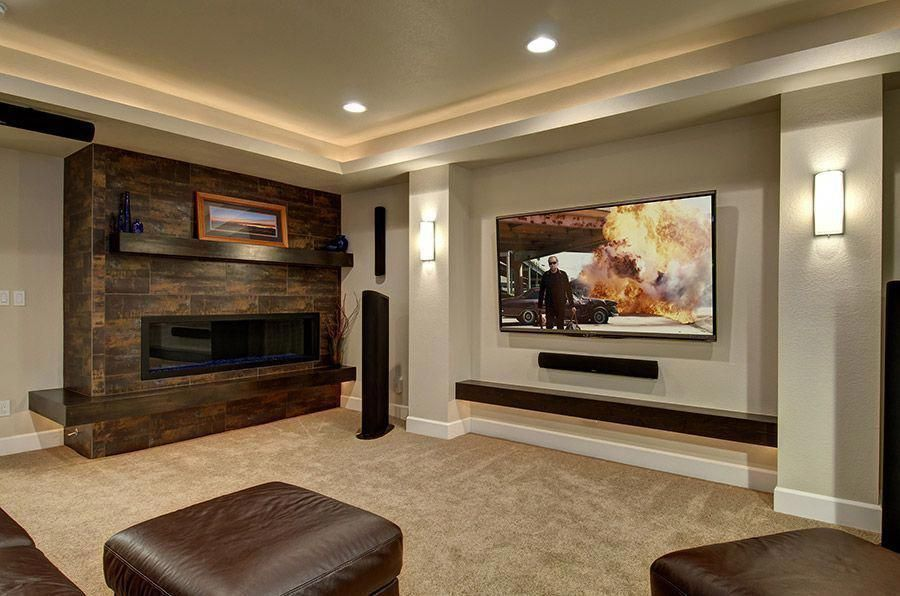Basement home theater ideas, DIY, small spaces, budget, medium,  inspiration, tables, cinema, kids, wiring, pictures, cost, design, s…   Home  theater setupPinterest