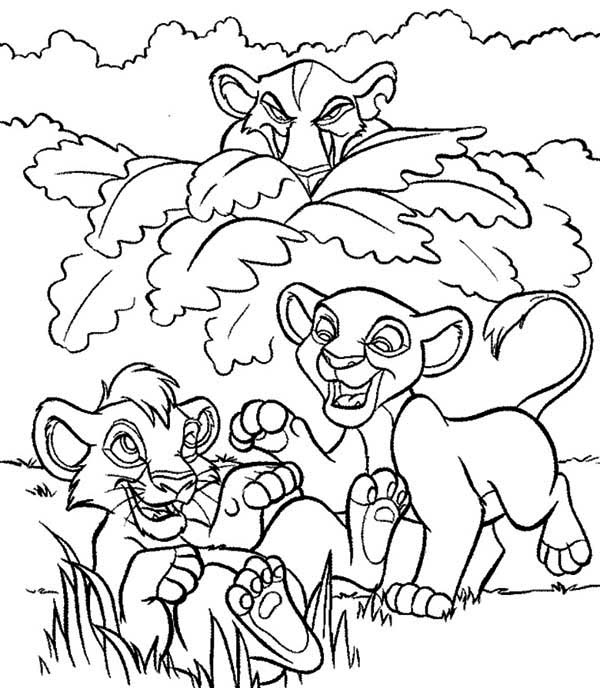 Simba And Nala Peeked By Scar Coloring Page Download Print Online Coloring Pages For Free Horse Coloring Pages Disney Coloring Sheets Disney Coloring Pages
