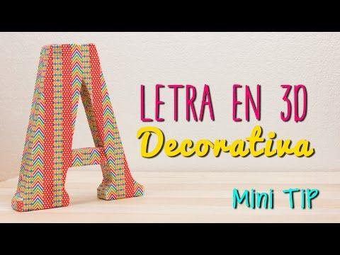 C mo hacer letras 3d para decorar tu habitaci n f cil en 10 min manualidades diy lo har - Manualidades para decorar habitacion ...