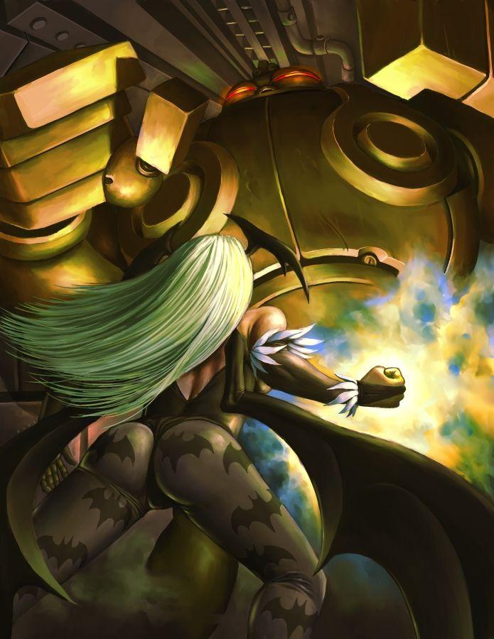 Marvel vs Capcom - Morrigan vs Shuma Gorath by hitomi--i