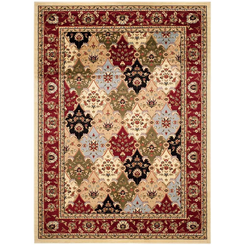 Safavieh Lyndhurst Multi Red 9 Ft X 12 Ft Area Rug Oriental Area Rugs Area Rugs Traditional Area Rugs
