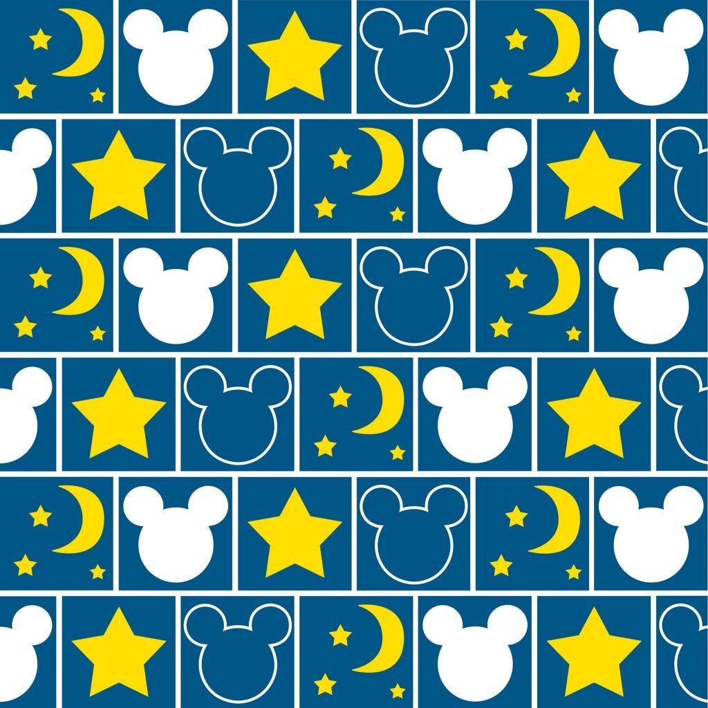 ミッキーマウス 月と星柄 スマホ壁紙 Iphone And Android Smartphone