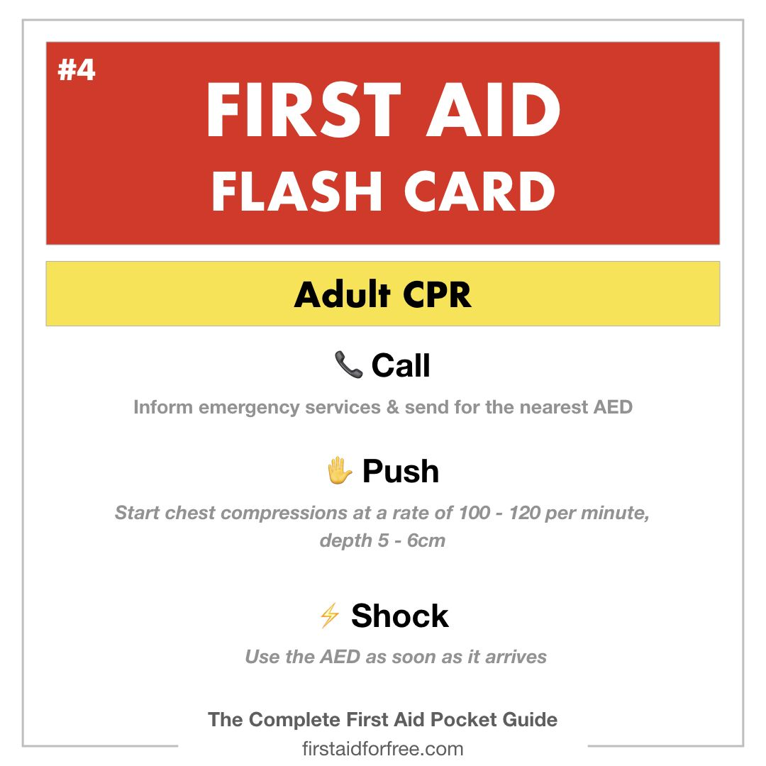 Free First Aid Flashcards available to download from