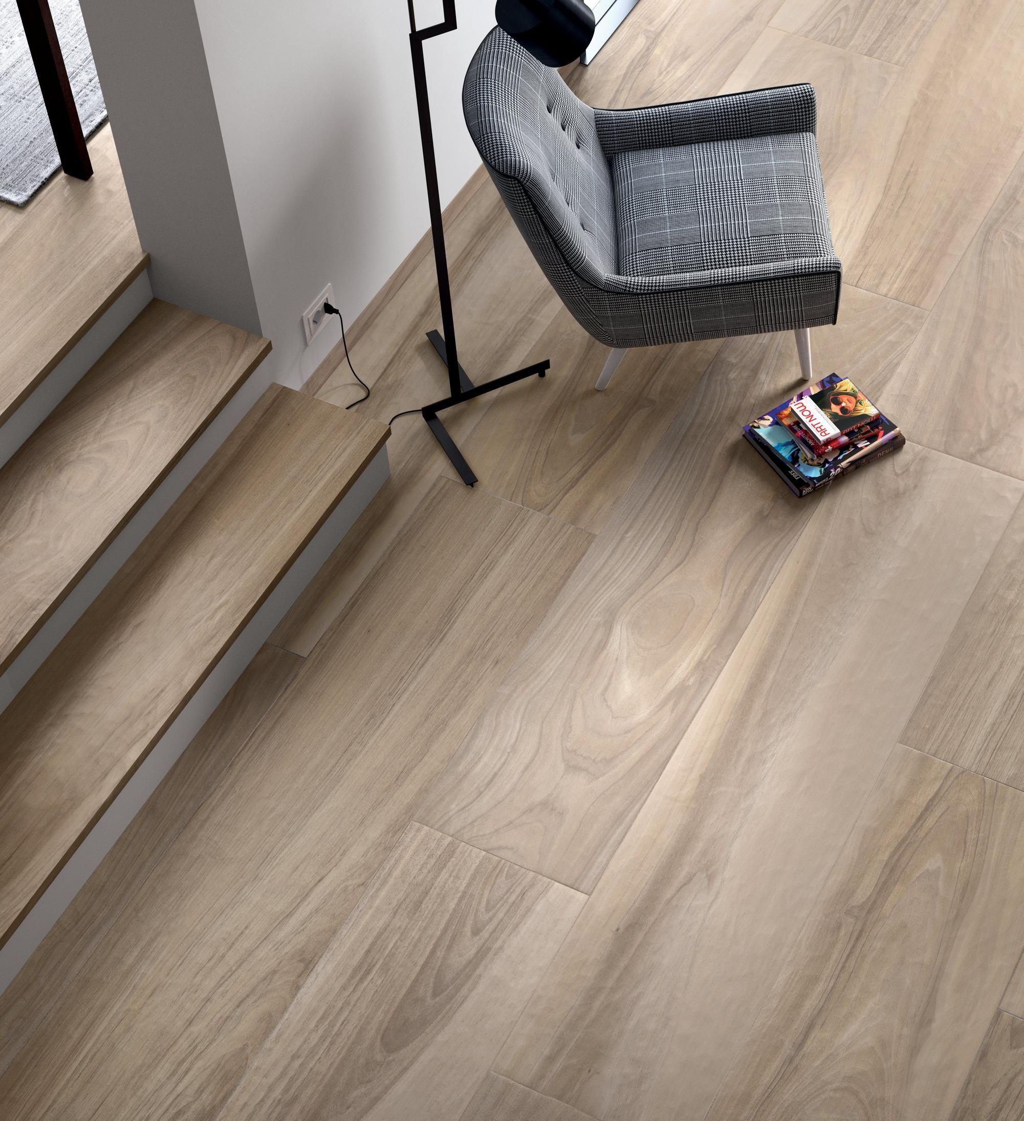 Aspen Natural Polished Wood Plank Porcelain Tile With Images Wood Polish Wood Planks Porcelain Tile