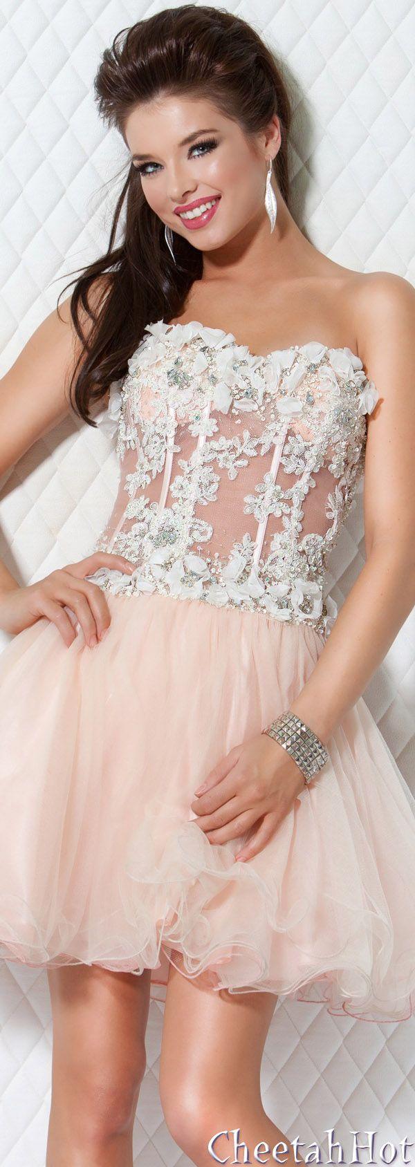 JOVANI - Cute Short Pink Dress