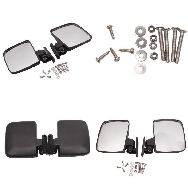 Yamaha Golf Club Cart Side Mirrors Replacement Parts Kit Golfing