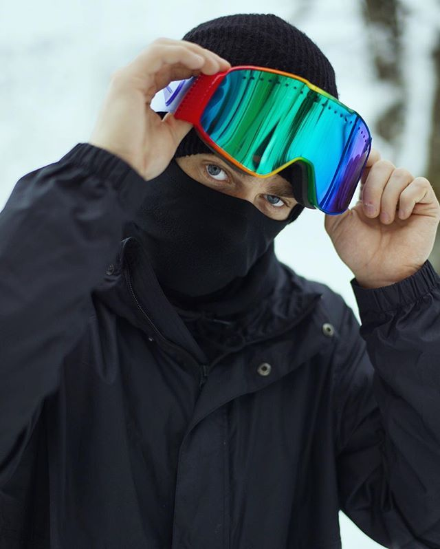 1d3cc21f7f I only wear black... and rainbow! Lol. Really stoked on this custom pair  goggles that  nike made for me! Feeling very loved and supported to get a  gift like ...