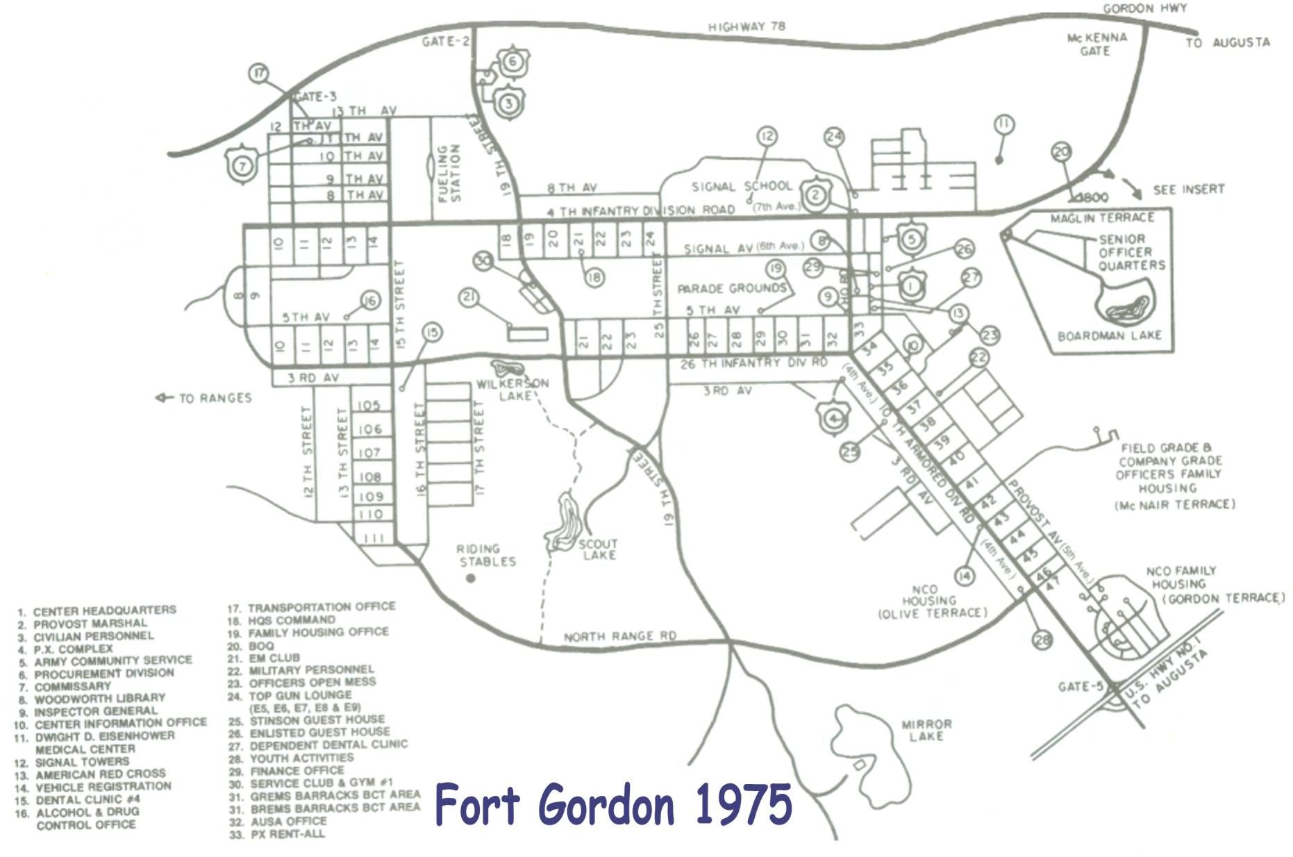 Fort Gordon Ga 1975 Home Of Signal Training Center Army Strong Fort Lewis Fort