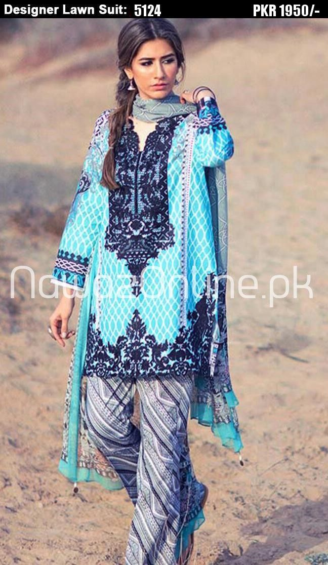 Pin by NawazOnline.pk on Designer\'s Embroidered Lawn Suit ...