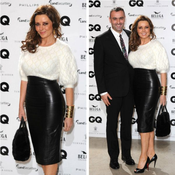 Carol Vorderman stuns in skin-tight leather skirt at GQ party ...