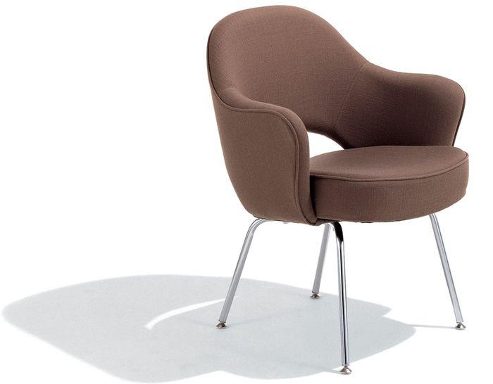 Saarinen Executive Arm Chair With Metal Legs Chair
