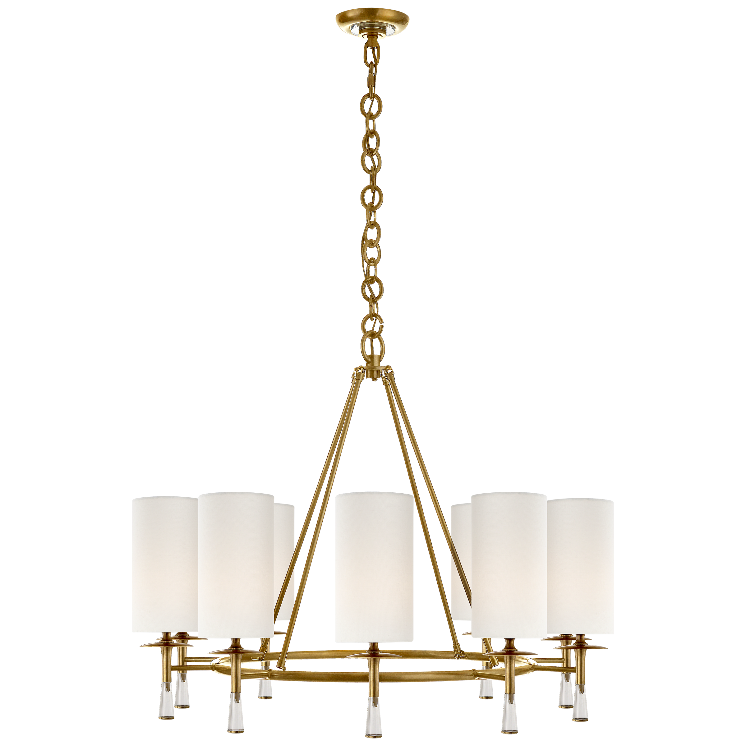 Chandelier In Hand Rubbed Antique Br
