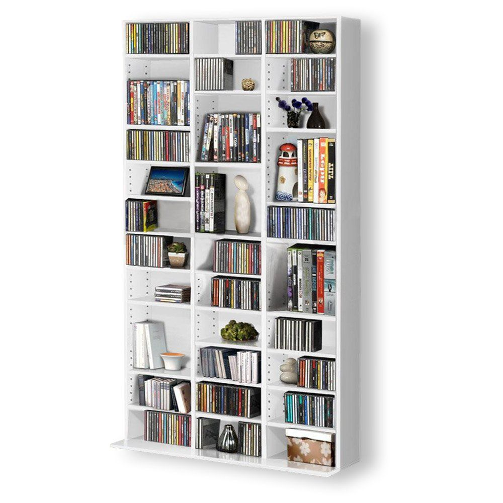 1116 CD/528 DVD Storage Shelf Rack Unit Adjustable Book