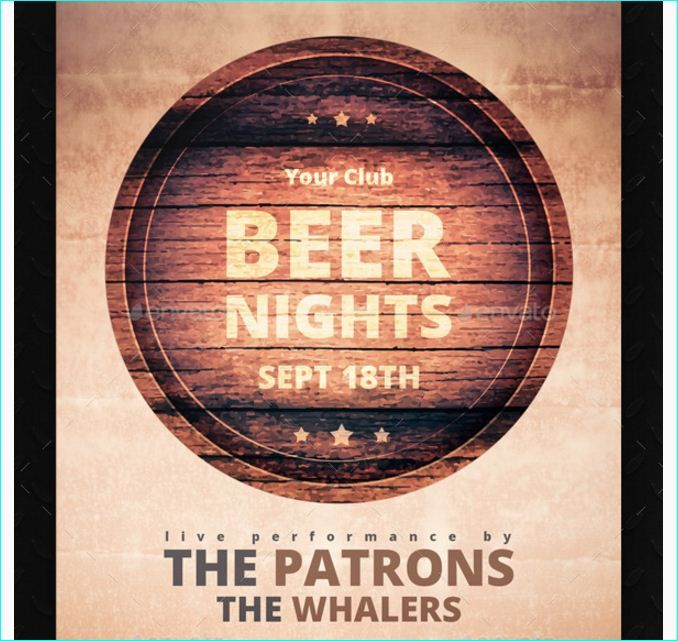 Beer Nights Flyer  Party Flyer Templates For Clubs Business