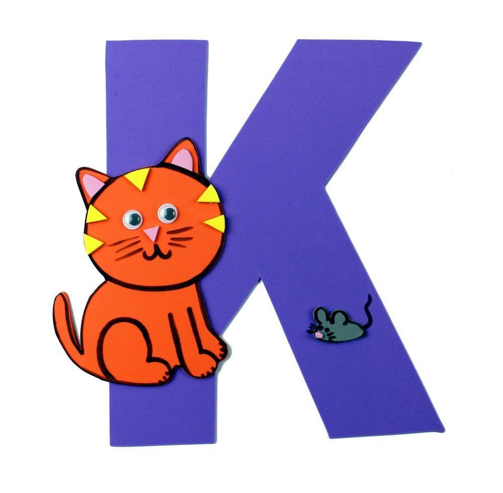 K Is For Kitten Letter K Craft Letter K Crafts K Crafts Easy Preschool Crafts