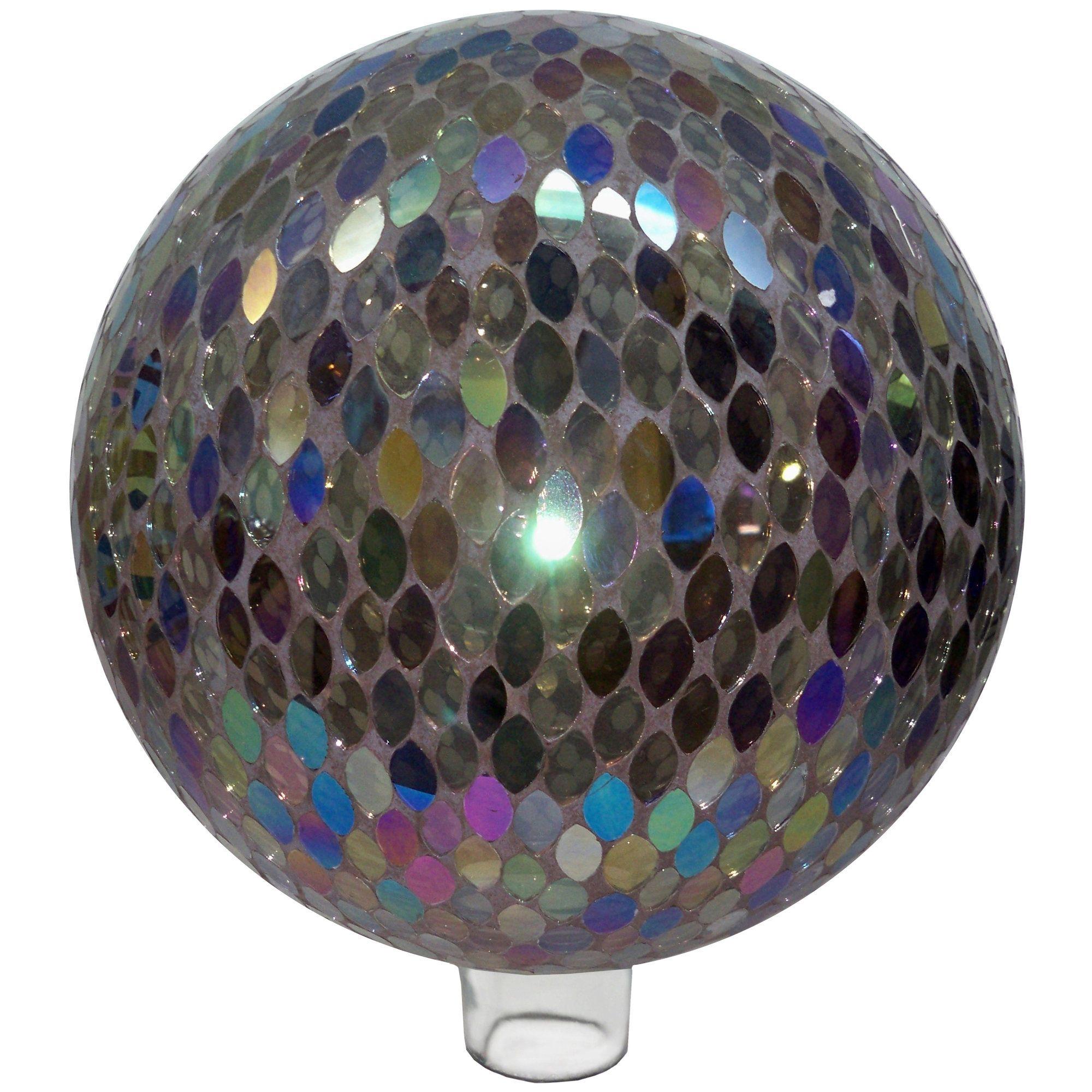 Mosaic Ellipse Glass Gazing Globe