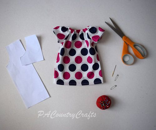 Doll Peasant Dress Pattern and Tutorial #dolldresspatterns
