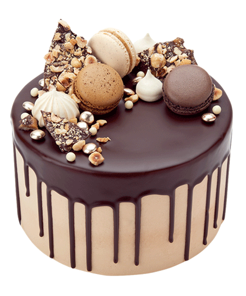 Cake Decorating Ideas With Nuts : Salted Caramel Drip Cake Birthday cakes Pinterest ...