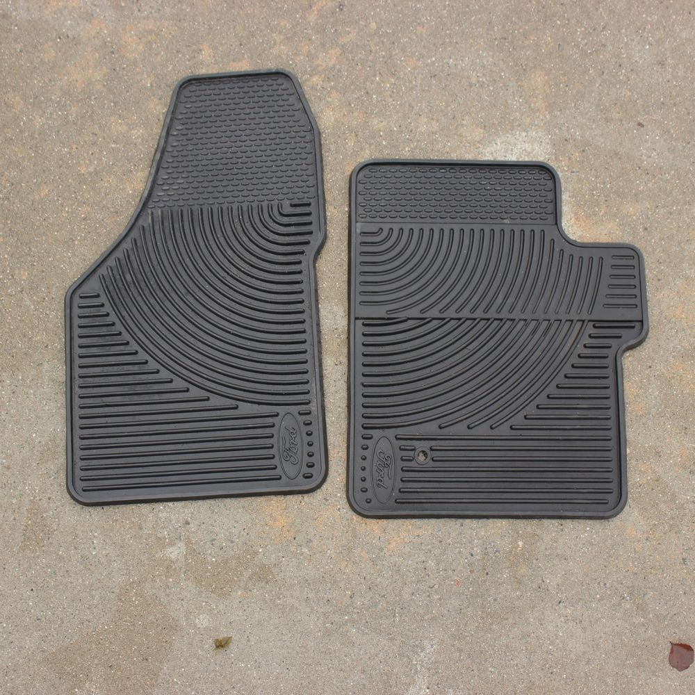 Ford Crew Cab Super Duty Black Rubber All Weather Floor