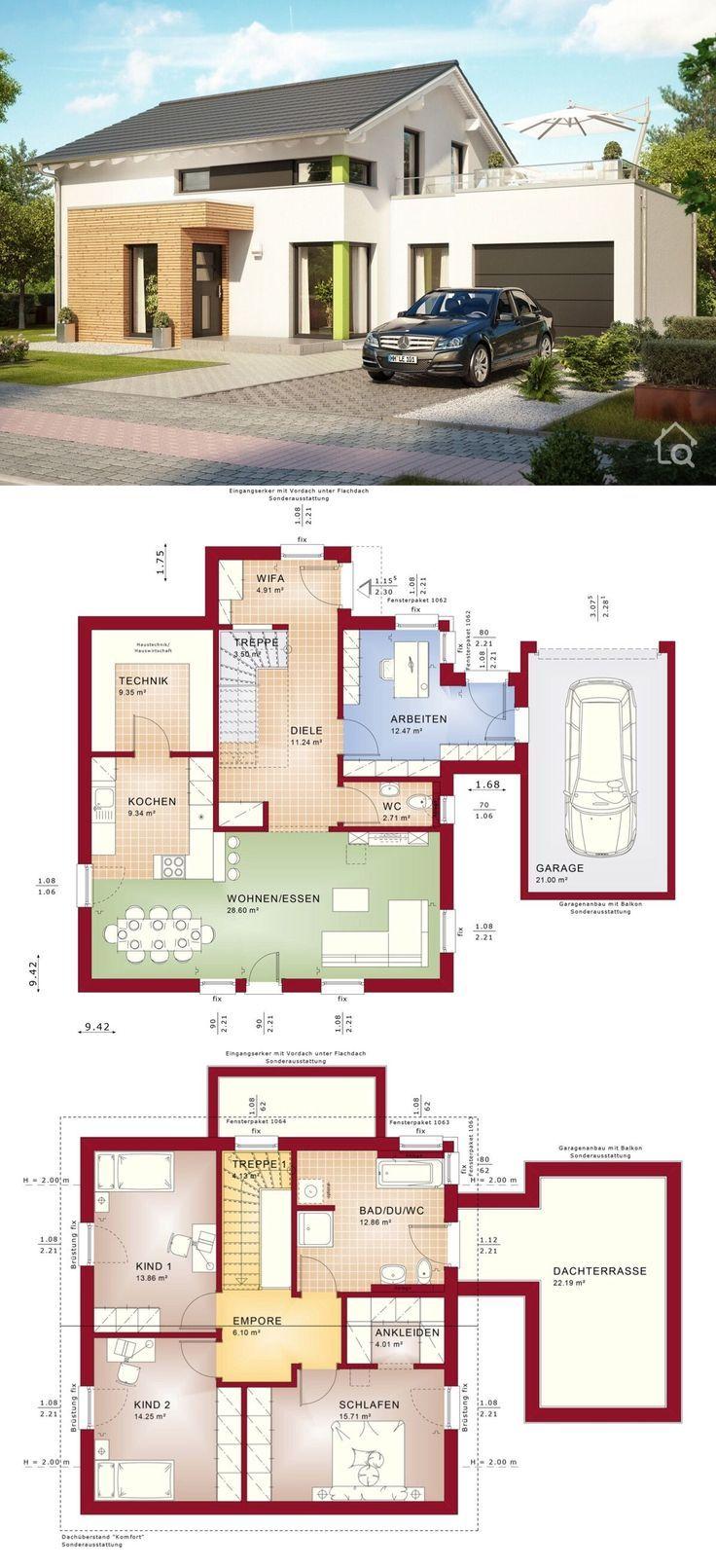 Einfamilienhaus EVOLUTION 143 V5 mit Garage