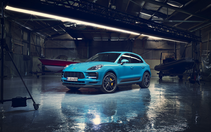 Download Wallpapers Porsche Macan 2019 4k Front View Exterior
