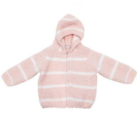 c34ef6746 Angel Dear Pink w  White Stripes Chenille Hooded Jacket 12 Months ...