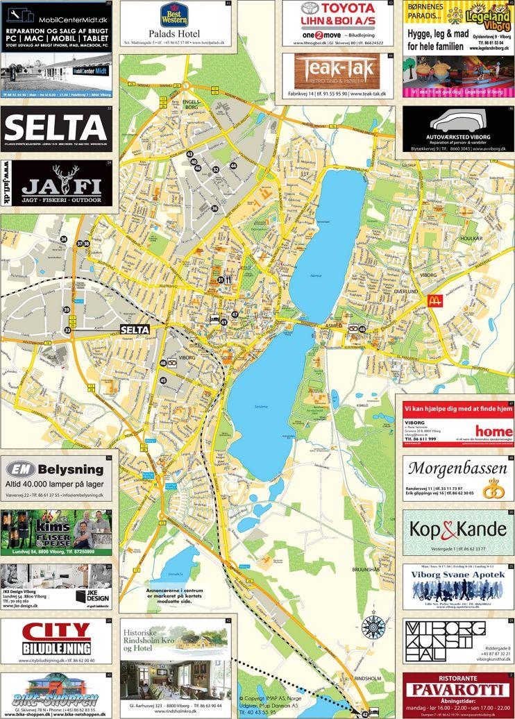 Viborg tourist map | Maps | Pinterest | Map, Tourist map and Viborg