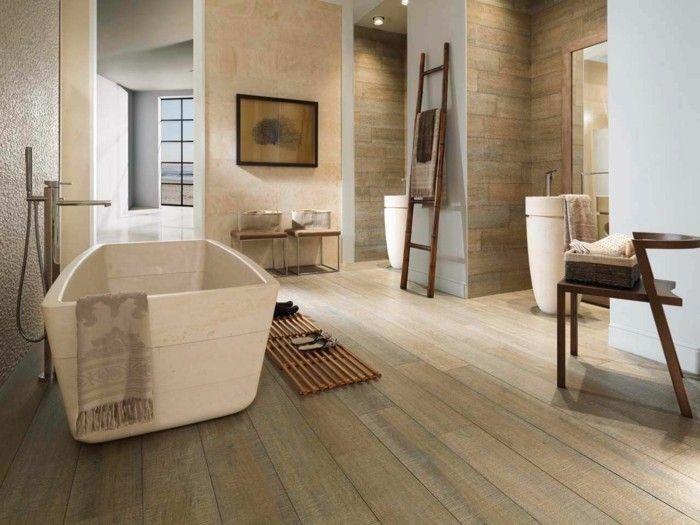 Bodenfliesen in Holzoptik für ein tolles Bad! | Badideen ...