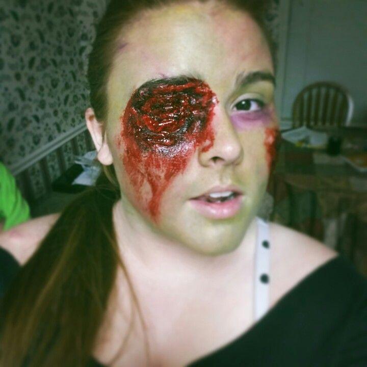 Zombie Eye Makeup By Reid Whitmire Liquid Latex Cotton Fake Blood