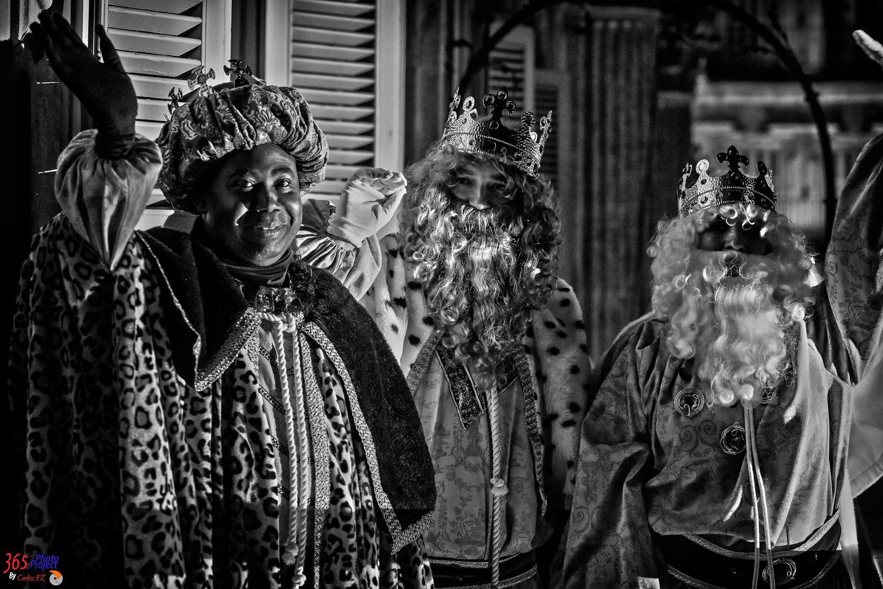 186/365 Los Tres Reyes de Oriente  Día 05 de Enero 2014_01_05_186_365_LosReyesMagosEnB&W