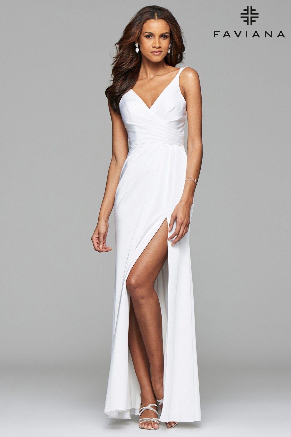 0e7150946d7 Classic V-Neck Evening Dress