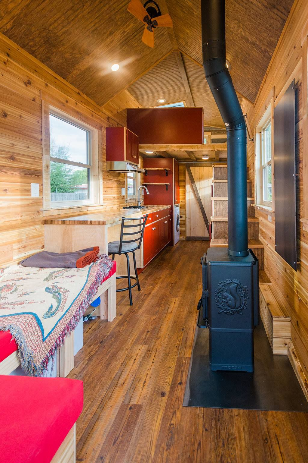 Davis Off Grid Tiny House By Mitchcraft Tiny Homes Tiny Living Tiny House Cabin Off Grid Tiny House Tiny House Builders