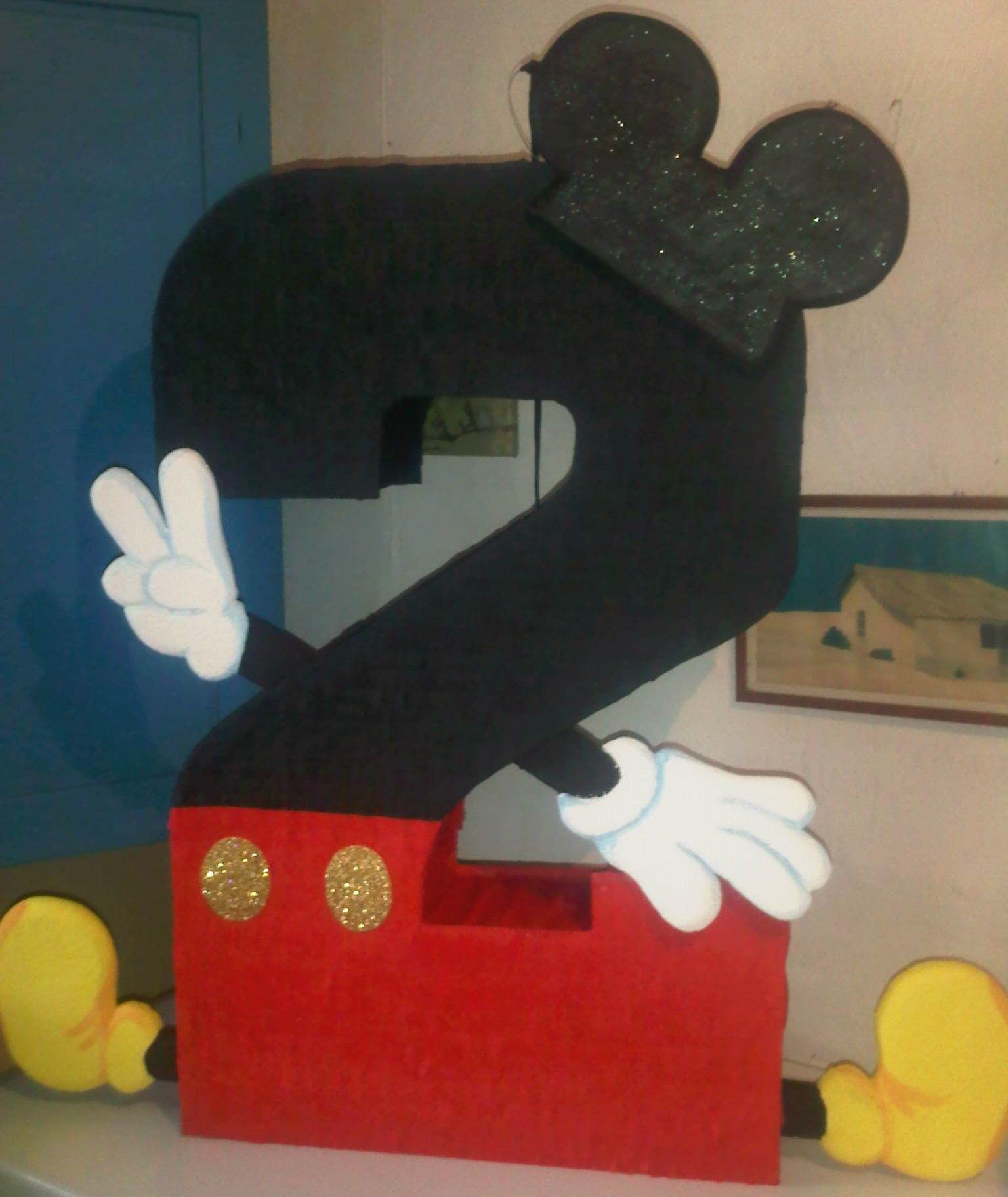 Piñata de Mickey Mouse en número dos Realizados por Bpdisenos ...