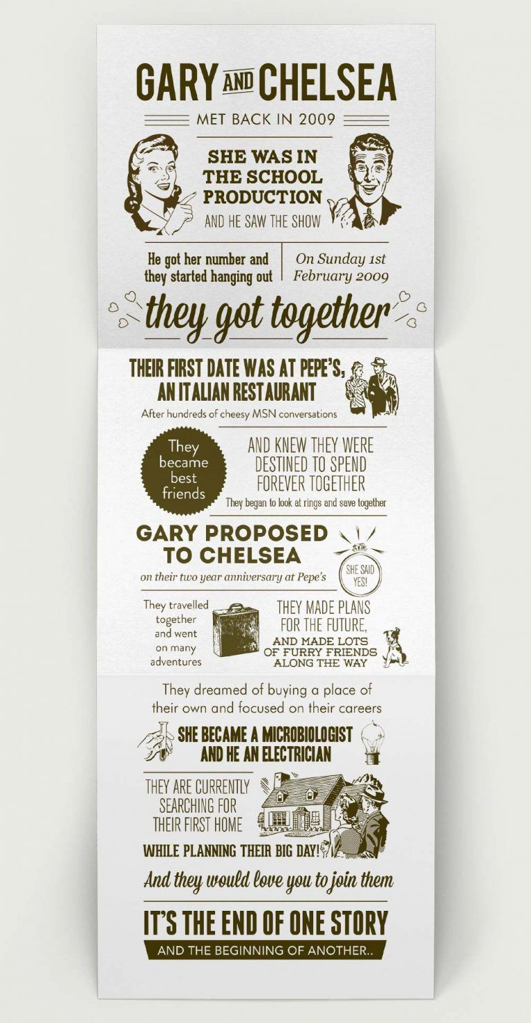 Wedding Invitation Vintage Love Story Design  Love story wedding
