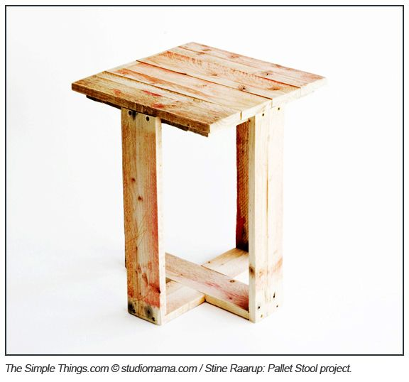 Diy Pallet Side Table Or Stool Upcycle Pallets Into Useful Furniture Dude Where Are All These People Finding Recycled