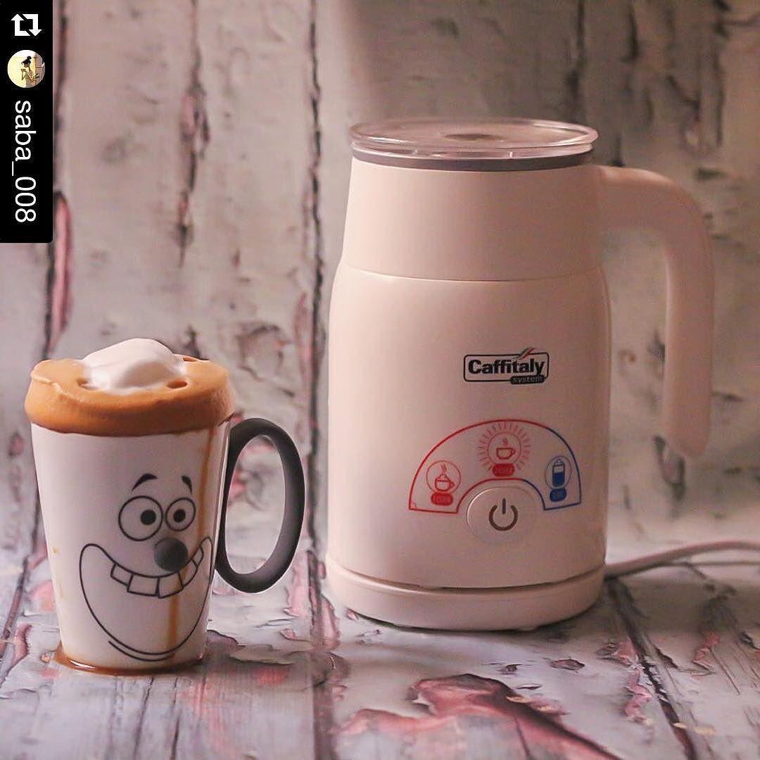 كــافـيـتـالــي On Instagram Repost Saba 008 طريقة الرغوه بجهازي السريع بدون صحون وصجه حطيت الحليب بال Morning Coffee Instagram Posts Electric Kettle