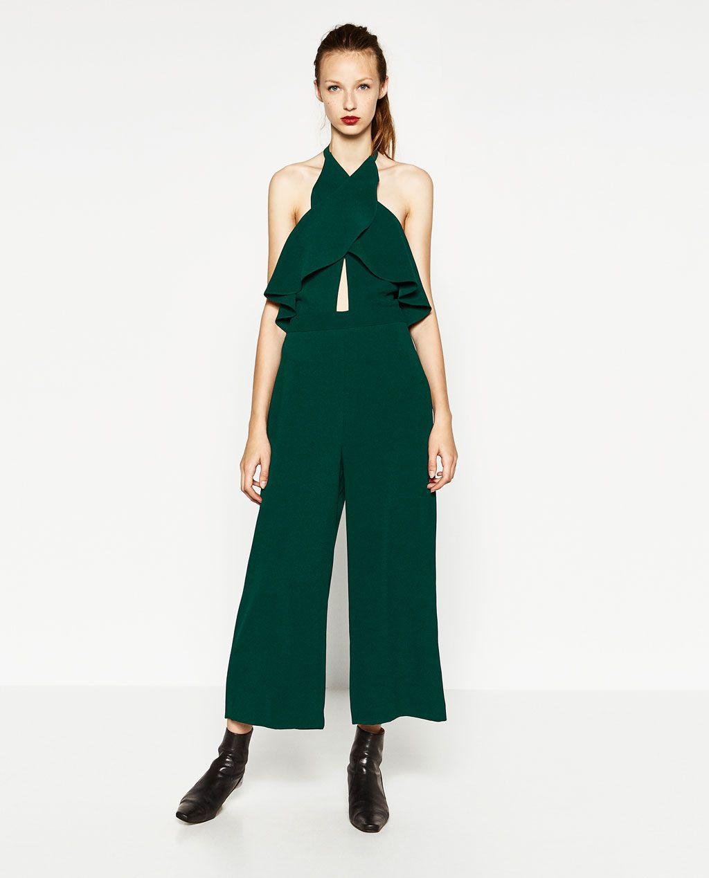 Imagen 1 de MONO LARGO ESCOTE CRUZADO de Zara | Moda | Monos