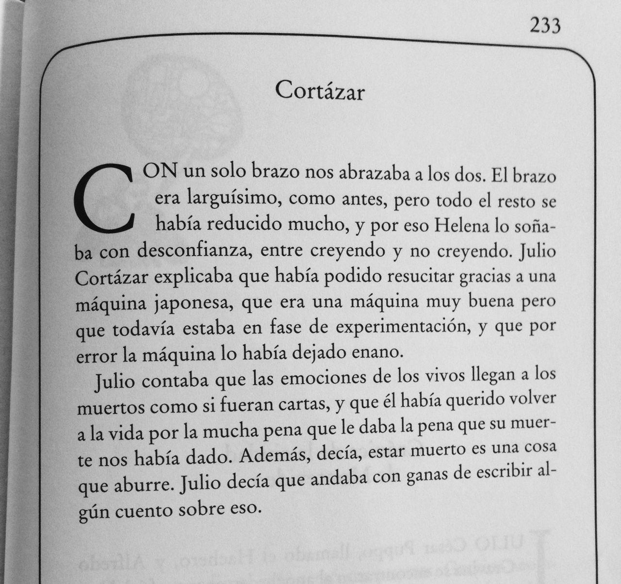 El libro de los abrazos, Eduardo Galeano sobre Cortázar