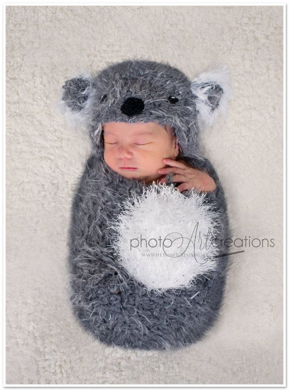 Can you get this for   2 (and or 3) Baby Koala Set Hat   Swaddle Sack PHOTO  PROP size by FUNKYHOOKER 73cbacf8e5d3