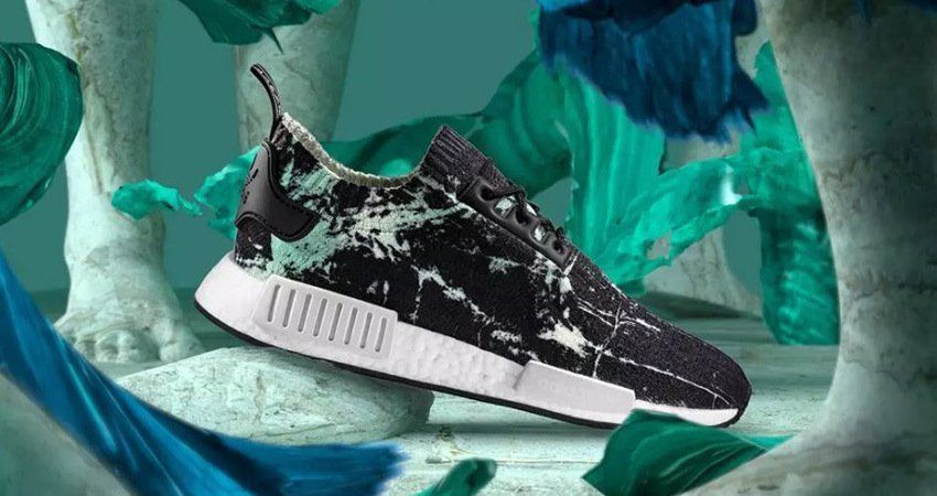 e5d95269a9a5f Adidas NMD R1 PK Primeknit Nomad Green Marble Flash BB7996  adidas   WalkingShoes