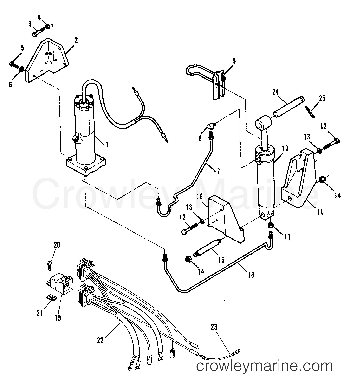 Design 11 Power Trim Unit With Bullet Connectors Bayliner Force 50 Ignition Wiring Diagram