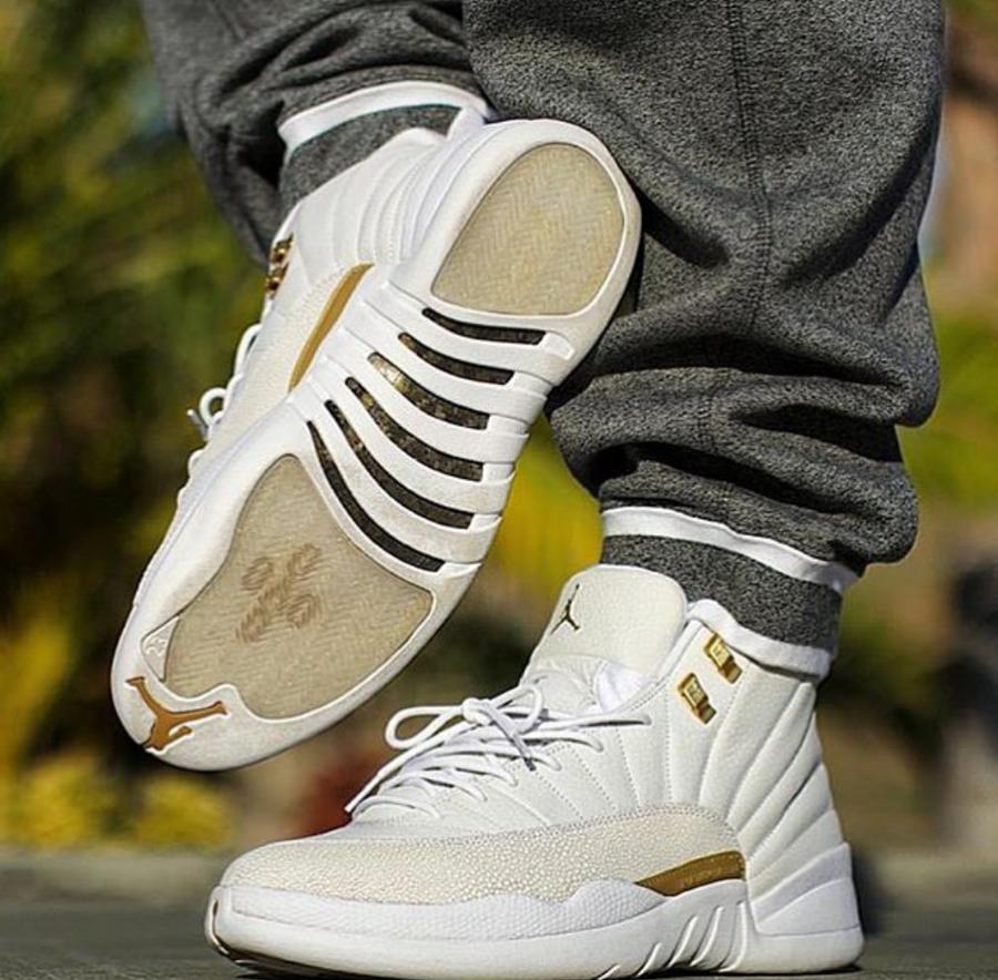 sneakers for cheap efbe4 8a41c OVO-Air-Jordan-12-White-On-Feet ... | Fashion | Air jordans ...
