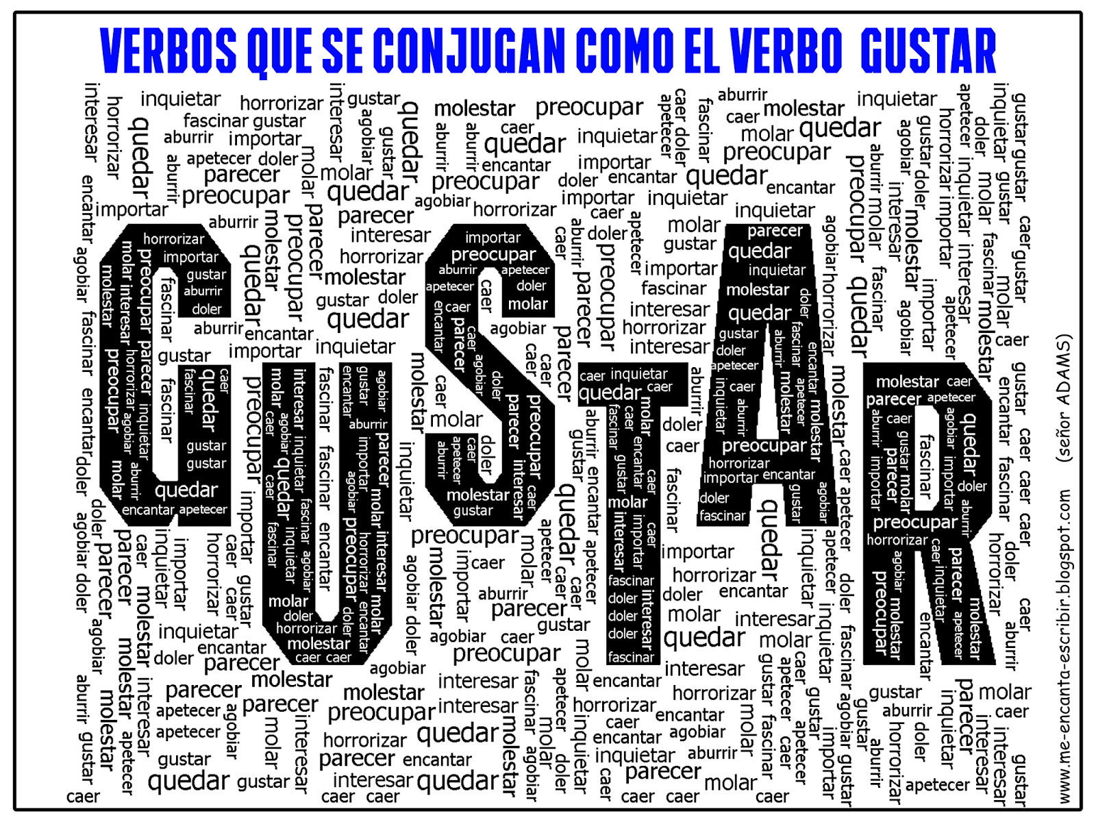Me Encanta Escribir En Espanol Gustar
