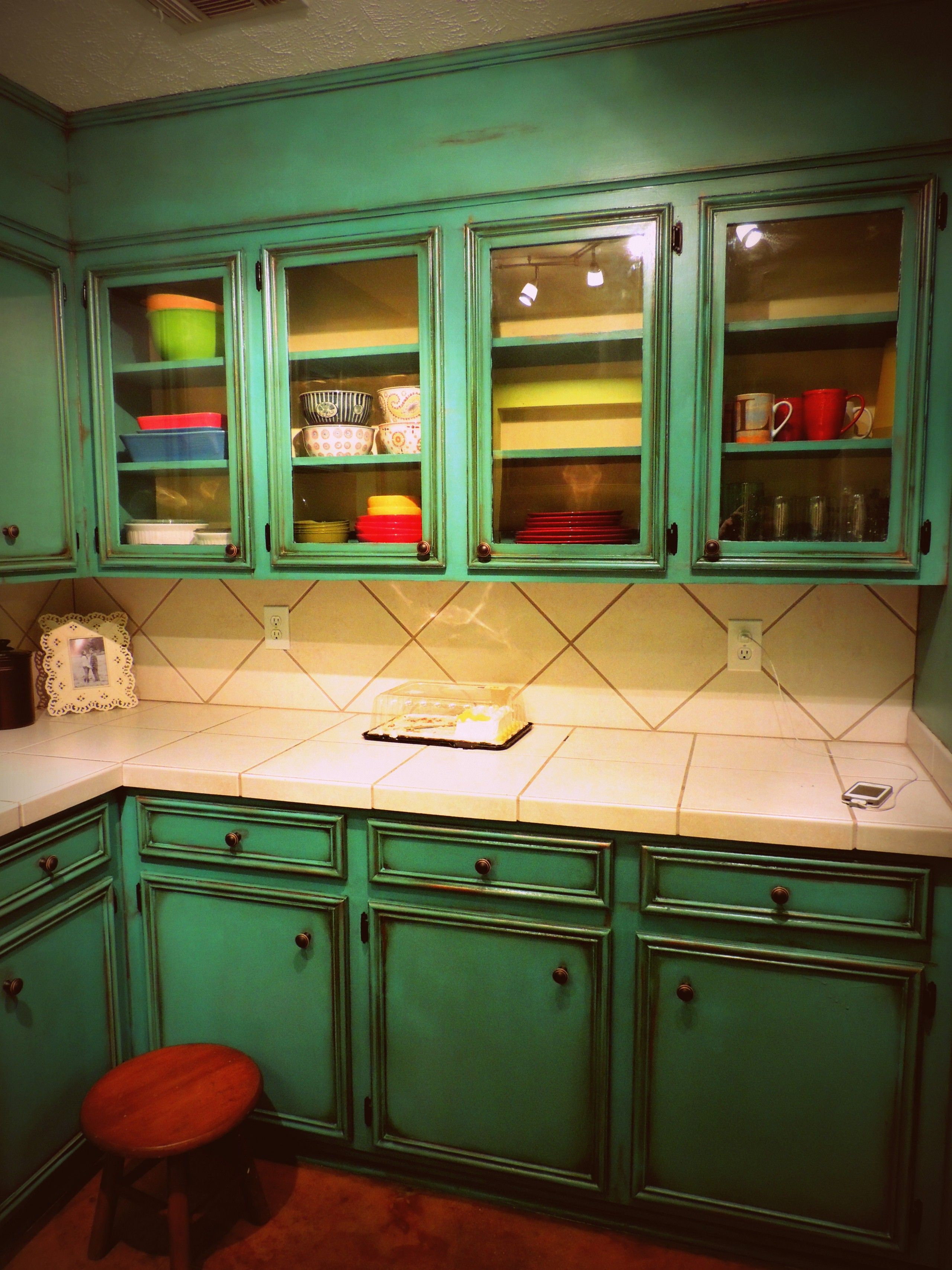 Turquoise Kitchen Decor With Classic Style Kitchen And Laminate