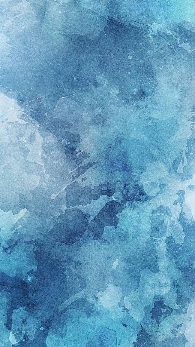 Blue & White Grunge Watercolor Wallpaper   Murals